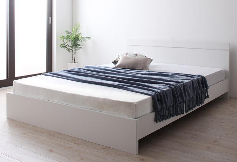 送料無料 セミシングル 連結可能ベッド 日本製 棚なし省スペース Vermogen フェアメーゲン 日本製ポケットコイルマットレス付き ダークブラウン ホワイト セミシングルベッド マット付き 親子ベッド 連結ベッド 040113799