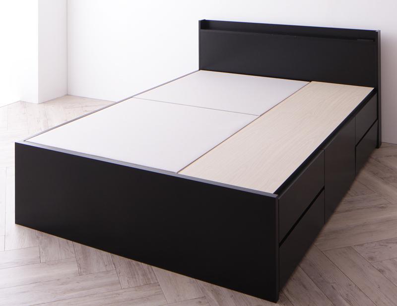 【送料無料】 チェストベッド セミダブル お客様組立 収納ベッド Amario アーマリオ ベッドフレームのみ 引き出し収納 収納付きベッド 棚付き コンセント付き セミダブルベッド