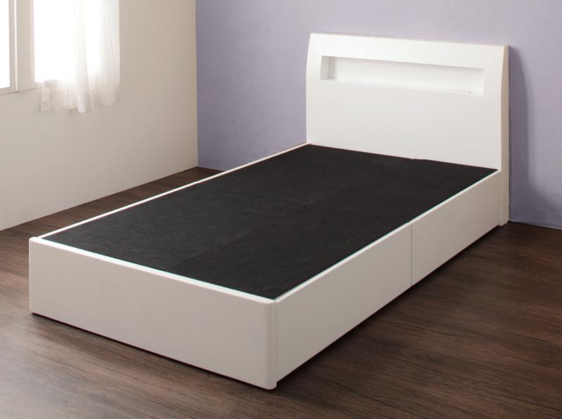 【送料無料】 ショート丈180 収納ベッド セミシングル collier コリエ フレームのみ 引き出し収納 引出し収納 セミシングルベッド 小さい 040115796