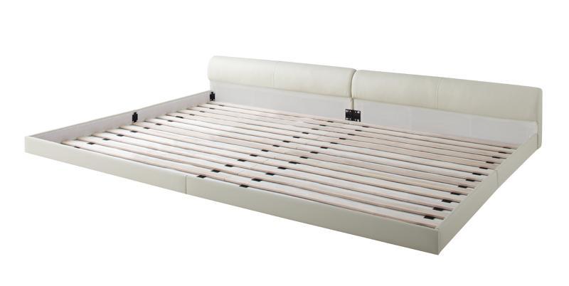 送料無料 ローベッド レザーベッド ワイドK280 大型ベッド Serafiina セラフィーナ フレームのみ フロアベッド レザーフレーム ワイドキングサイズ 親子ベッド 連結ベッド 040115931