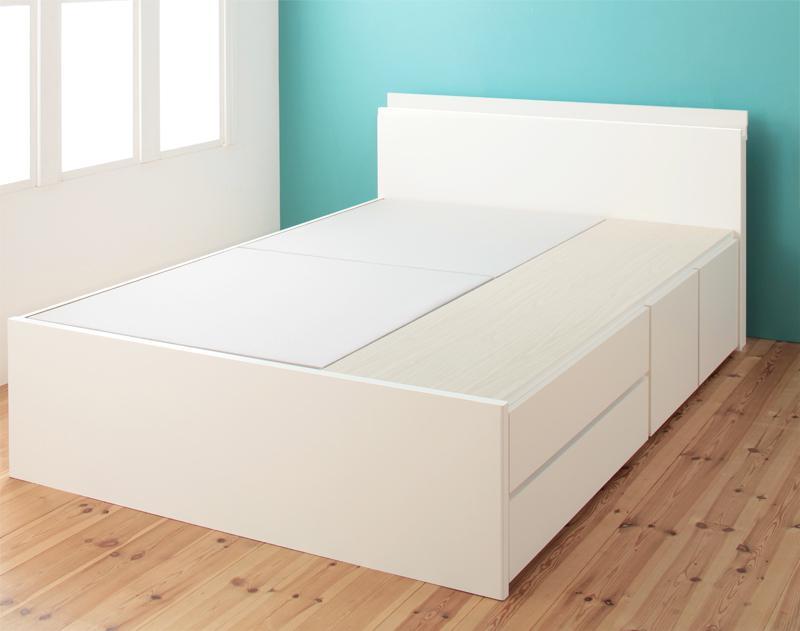 【送料無料】 大容量収納ベッド セミダブル お客様組立 チェストベッド Auxilium アクシリム ベッドフレームのみ 引出し収納 ベッド下収納 日本製 セミダブルベッド