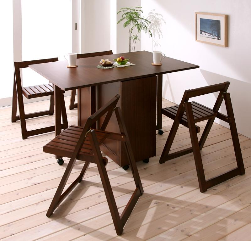 ダイニングセット 040605104 収納テーブル チェアセット 2020 ダイニングテーブルセット kippis キッピス 天然木バタフライ伸長式収納ダイニング 送料無料 お中元 5点セット