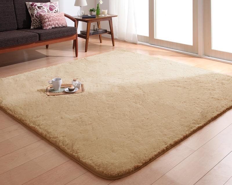 送料無料 ラビットファータッチマイクロファイバーラグ Sucre シュクレ スクエア(長方形)200×250cm 絨毯マット カーペット 040701169