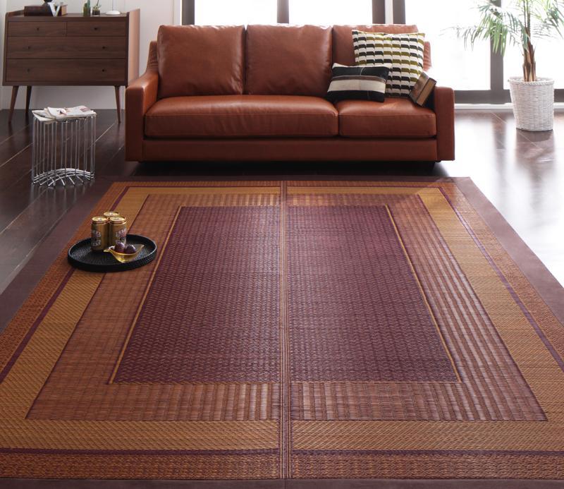送料無料 純国産モダンデザイン涼感い草ラグ Lyma ライマ 不織布なし 140x200cm 絨毯マット 和風 カーペット 040701181
