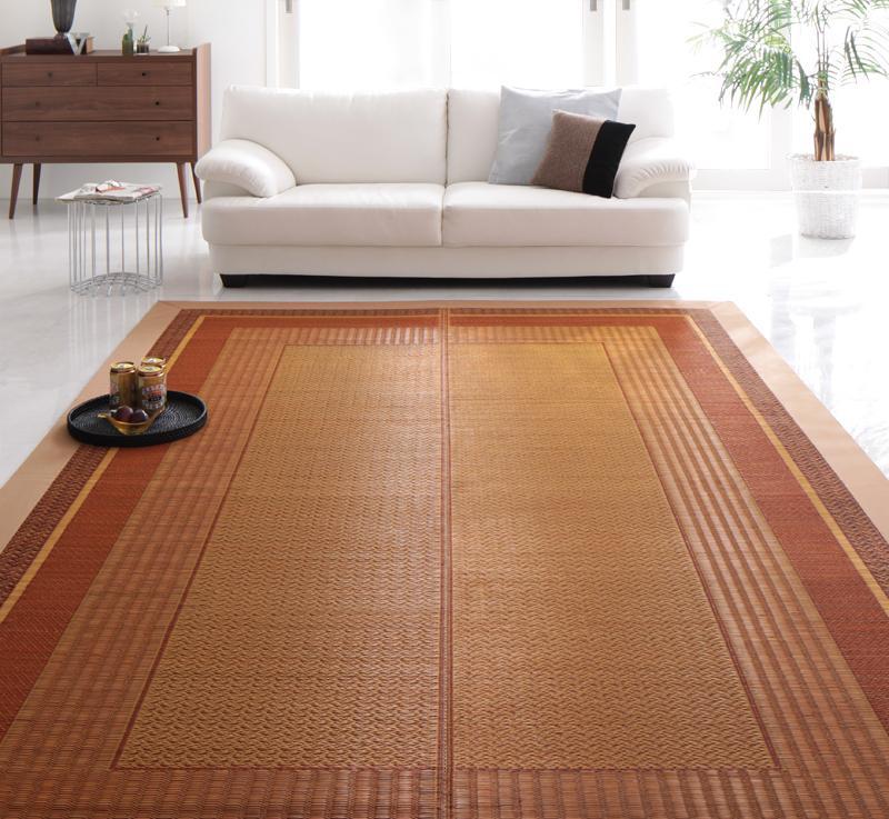 送料無料 純国産モダンデザイン涼感い草ラグ Lyma ライマ 不織布あり 140x200cm 絨毯マット 和風 カーペット 040701189