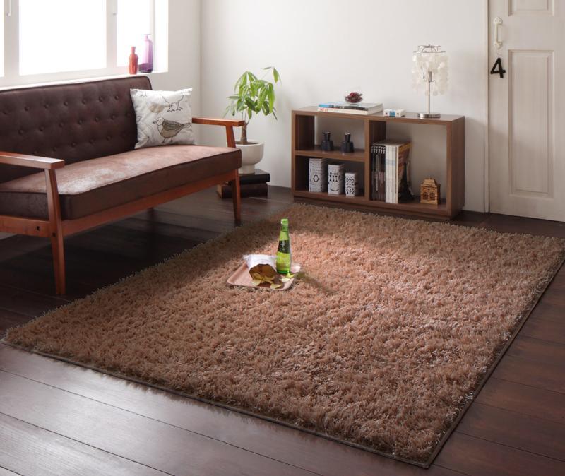 送料無料 防ダニ・アレルゲン抑制ミックスシャギーラグ CROY クロイ 140×200cm 絨毯 マット カーペット 040701216