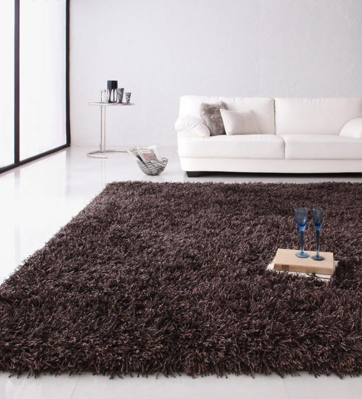 送料無料 ロングパイルシャギーラグ Premina プレミナ 200×200cm 絨毯 マット カーペット 040701223