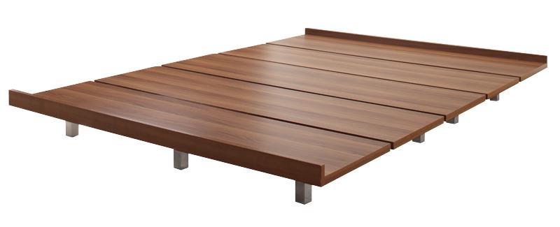 【送料無料】 すのこベッド 頑丈なベッド RinForza リンフォルツァベッドフレームのみ シングル レギュラー丈 ローベッド ウォールナット