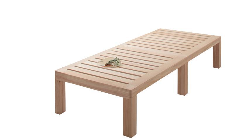 送料無料 総桐すのこベッド Kirimuku キリムク セミシングル パネルベッド ヘッドレス 木製ベッド セミシングルベッド 500024498