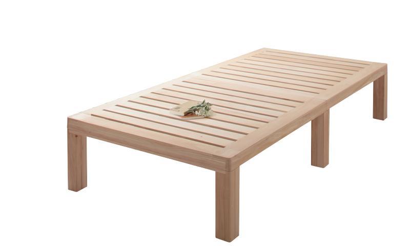 送料無料 総桐すのこベッド Kirimuku キリムク シングル パネルベッド ヘッドレス 木製ベッド シングルベッド 500024499