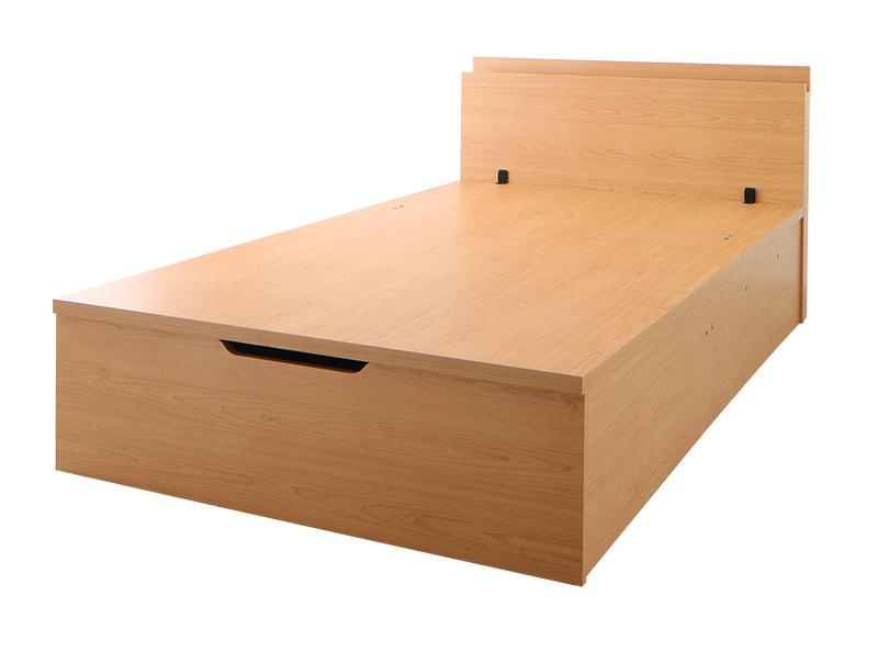 送料無料 【組立設置付き】 棚・コンセント付 大容量跳ね上げベッド ネオ・グランスタ ベッドフレームのみ 縦開き シングル ラージ 収納ベッド シングルベッド  500025484
