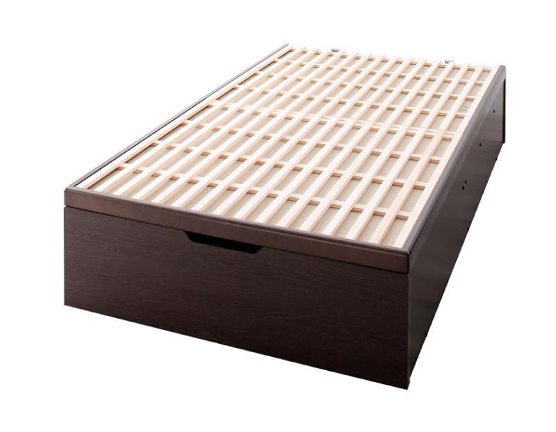 送料無料 シングル 敷ふとん対応&大容量収納を実現 国産すのこ跳ね上げベッド Begleiter ベグレイター 縦開き ヘッドレス 深さグランド すのこベッド 収納ベッド ガス圧 シングルベッド 収納付きベッド 500025956