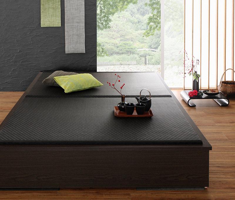 送料無料 シングル 美草・日本製 小上がりにもなるモダンデザイン畳収納ベッド 花水木 ハナミズキ たたみベッド 収納付きベッド シングルベッド 500026724
