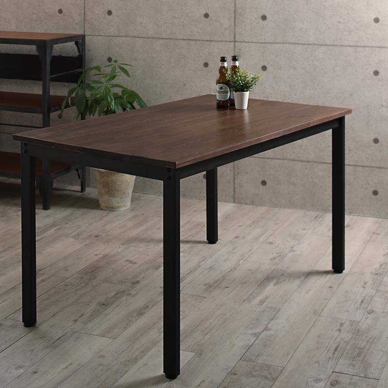 天然木パイン無垢材ヴィンテージデザインダイニング Wirk ウィルク ダイニングテーブル W120単品 ダイニングテーブル 高さ70