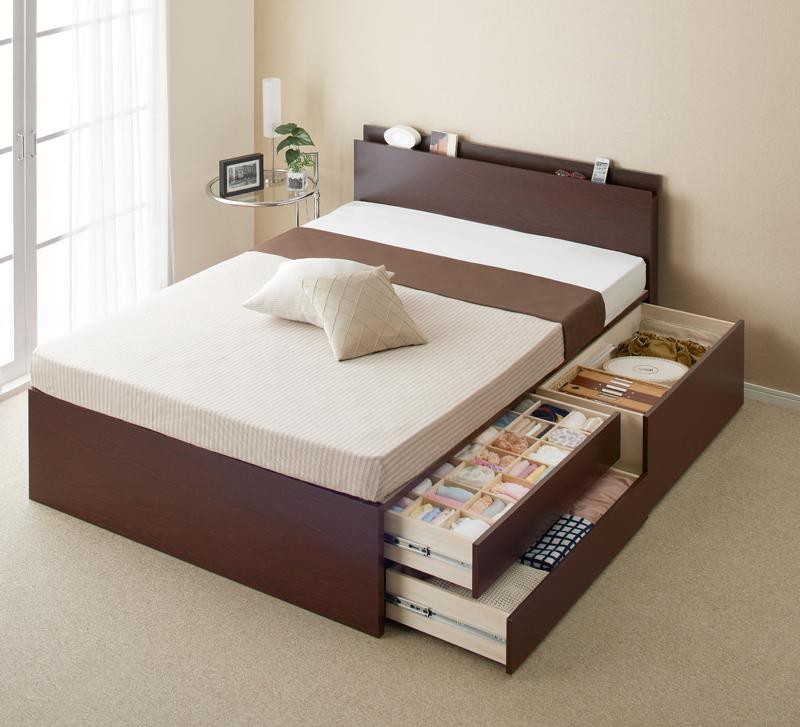 【送料無料】【組立設置付き】 大容量収納ベッド シングル チェストベッド Inniti イニティ 薄型プレミアムボンネルコイルマットレス付き 引出し収納 ベッド下収納 日本製 マット付き シングルベッド マットレス付き
