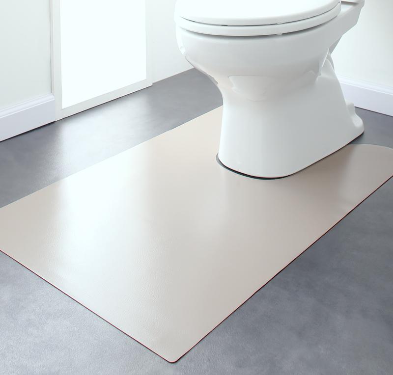 【送料無料】 はっ水 本革調モダンラグマット selals セラールス トイレマット 60×95cm トイレマット 撥水 拭ける おしゃれ カーペット 角型