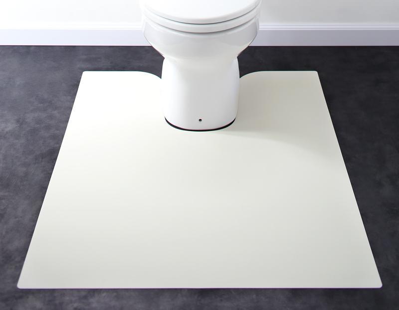 【送料無料】 はっ水 本革調モダンラグマット selals セラールス トイレマット 80×95cm トイレマット 撥水 拭ける おしゃれ カーペット 角型