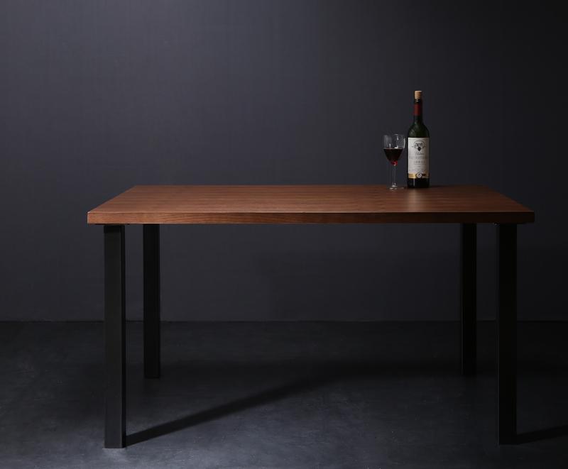 送料無料 ウォールナット モダンデザインリビングダイニング YORKS ヨークス ウォールナット材テーブル(幅120) スチール脚 木製テーブル ダイニングテーブル 食卓テーブル 040600780