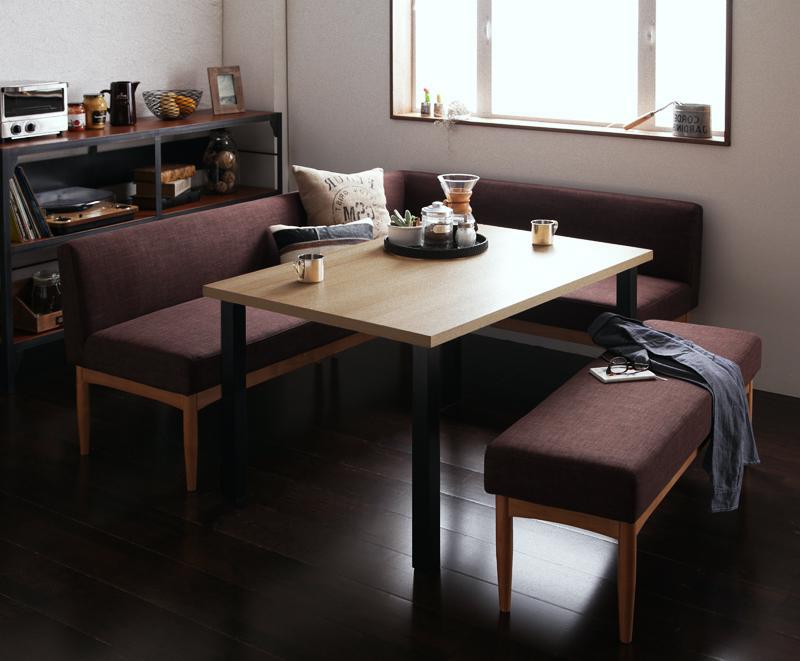 送料無料 モダンカフェ風リビングダイニングセット BARIST バリスト 4点ベンチセット 食卓セット テーブルソファセット ダイニングテーブルセット 040600823