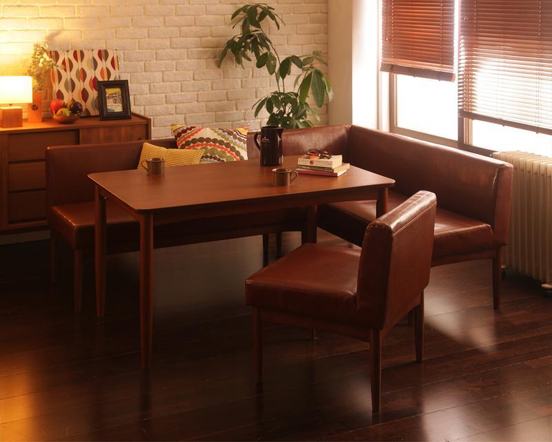 送料無料 レトロモダンカフェテイスト リビングダイニングセット BULT ブルト 4点チェアセット 食卓セット テーブルソファセット ダイニングテーブルセット 040601037