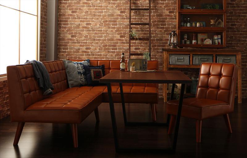送料無料 アメリカンヴィンテージ リビングダイニングセット Monica モニカ 4点チェアセット(幅120) 食卓セット テーブルソファセット ダイニングテーブルセット 040601499