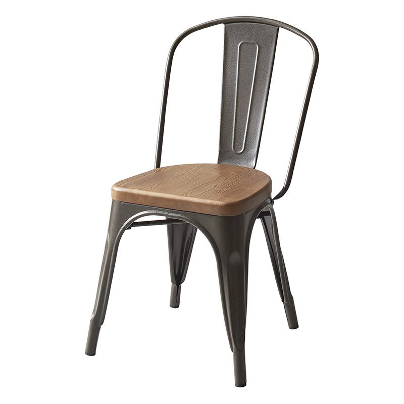 送料無料 ヴィンテージカフェスタイルソファダイニング Towne タウン ダイニングチェア 1脚 スチールチェア 食卓イス ダイニングチェアー 食卓椅子 500021330
