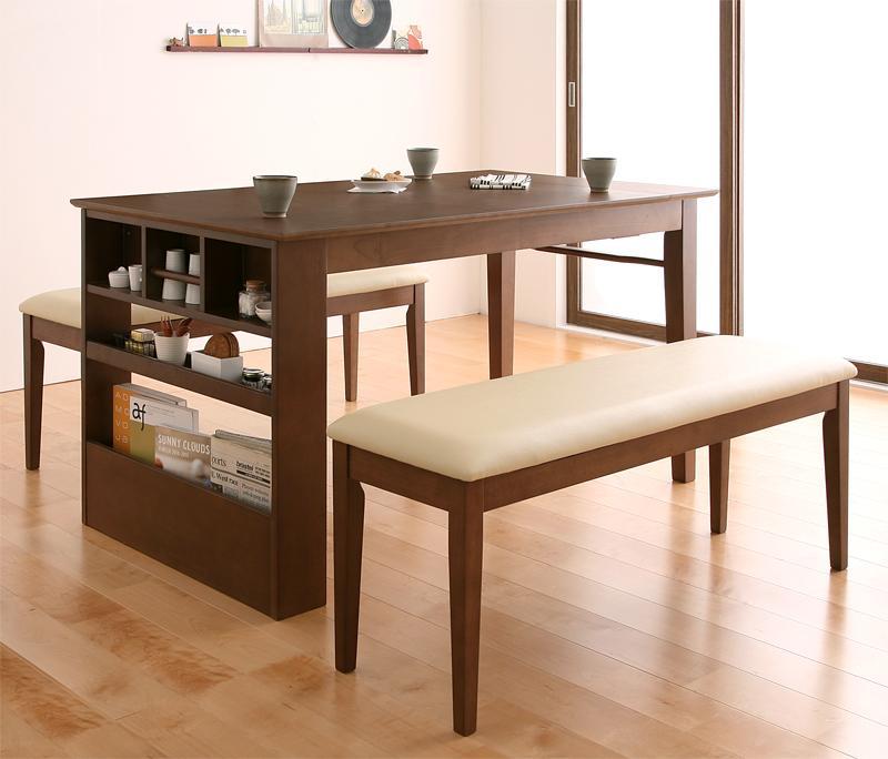 送料無料 ベンチが収納できる 省スペースエクステンションダイニング flein フラン 3点セット(テーブル+ベンチ2脚) W135-170 食卓セット テーブルチェアセット ダイニングテーブルセット ダイニングセット 500026952