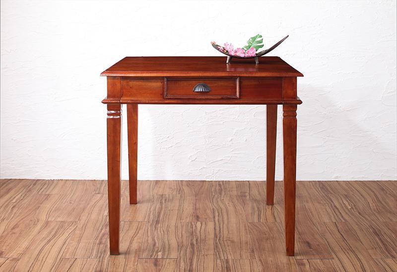 送料無料 天然木マホガニー材アンティーク調アジアンダイニングシリーズ RADOM ラドム ダイニングテーブル W80 テーブル単品 食卓テーブル 500027933