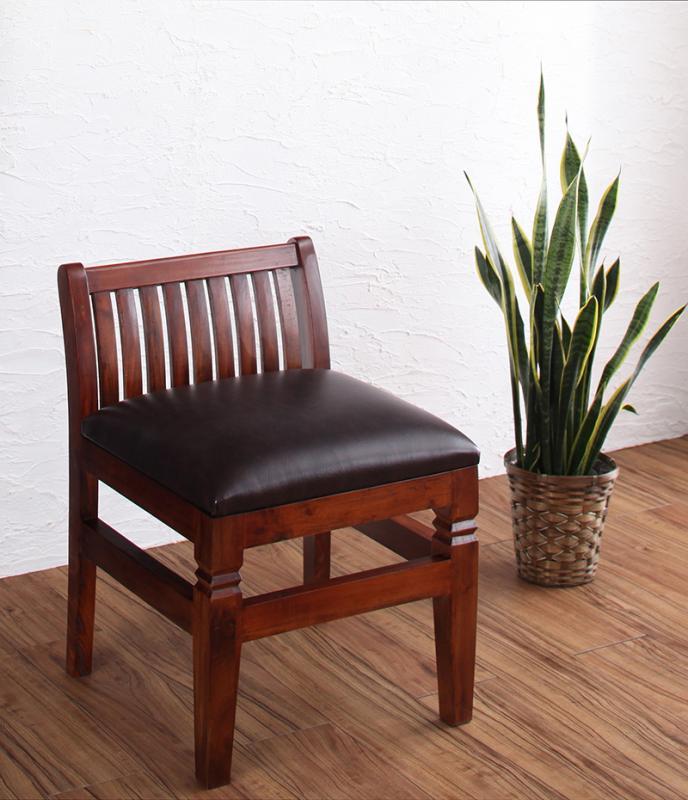 送料無料 天然木マホガニー材アンティーク調アジアンダイニングシリーズ RADOM ラドム ダイニングチェア 1脚 食卓イス ダイニングチェアー 食卓椅子 500027935