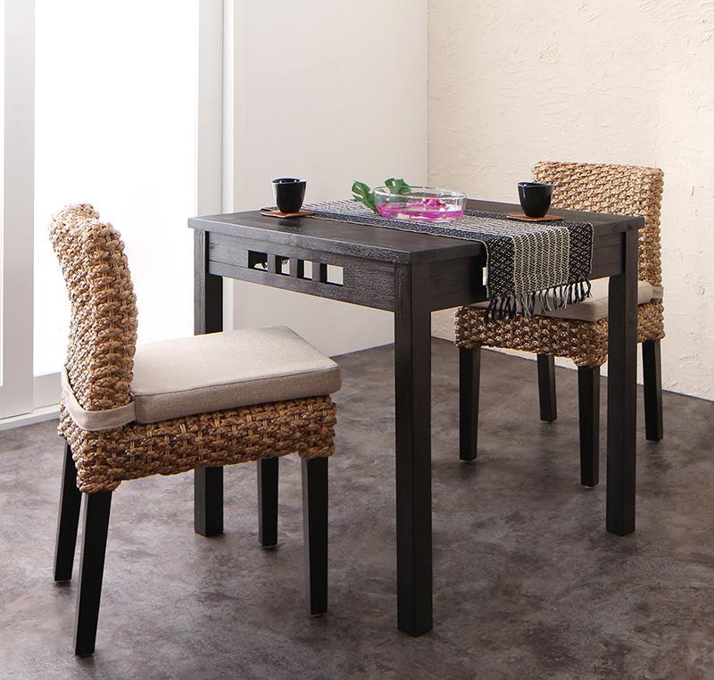 送料無料 アジアンモダンダイニングセット Aperm アパーム 3点セット(テーブル+チェア2脚) W76 食卓セット テーブルチェアセット ダイニングテーブルセット 500028083