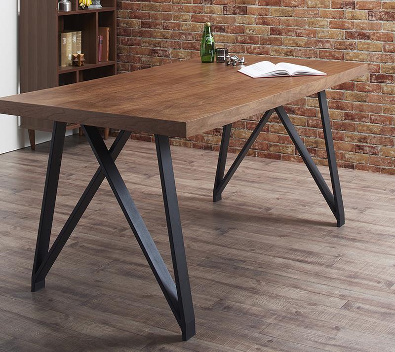 【送料無料】 天然木ウォールナット材ヴィンテージデザインダイニング Latina ラティナ ダイニングテーブル W160単品 ダイニングテーブル 高さ72