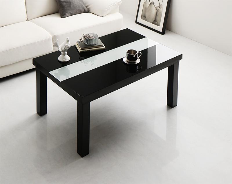 こたつテーブル 長方形 [長方形(60×90cm) 鏡面仕上げ アーバンモダンデザインこたつテーブル VADIT バディット] おしゃれ コタツテーブル