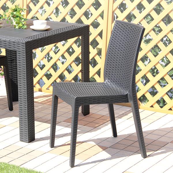 ステラシリーズ ガーデンチェア 2脚セット ガーデンチェア ステラ イス ブラック エクステリア 庭 カフェ 椅子 ガーデンカフェ