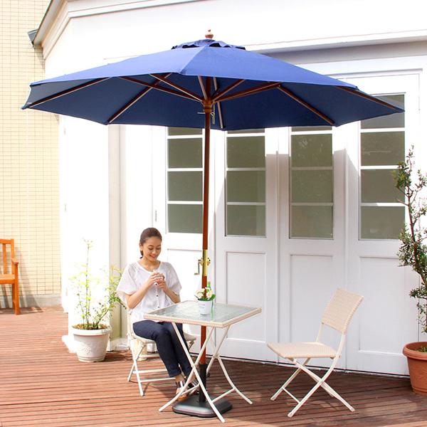 木製パラソル 270cm マーチ ガーデンパラソル パラソル本体 日よけ バルコニー 木製 270cm テラス 傘 オープンカフェ アウトドア