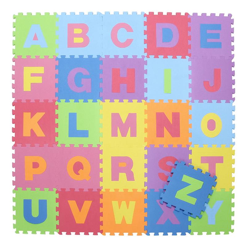 送料無料 キッズパズルマット 156枚セット アルファベット 防音 ジョイント マット 赤ちゃん ベビー プレイマット パズルマット クッションマット フロアーマット おしゃれ シンプル