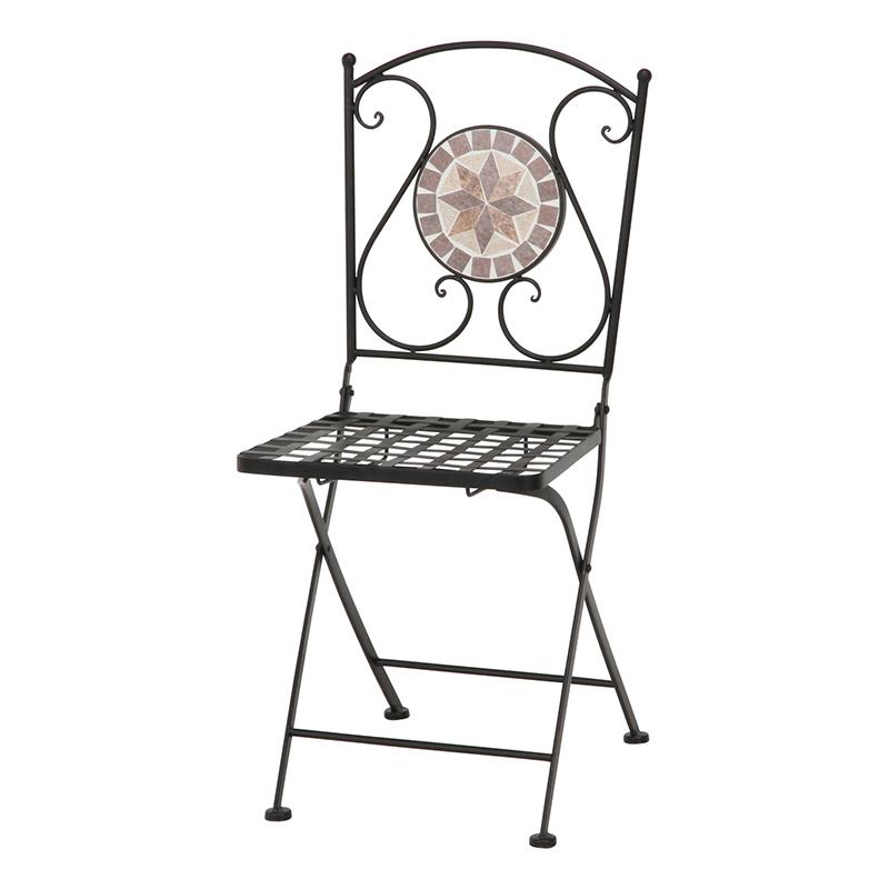 送料無料 2脚セット モザイクチェアー 星柄 椅子 チェア チェアー 折りたたみ 折り畳み ガーデンチェアー おしゃれ かわいい