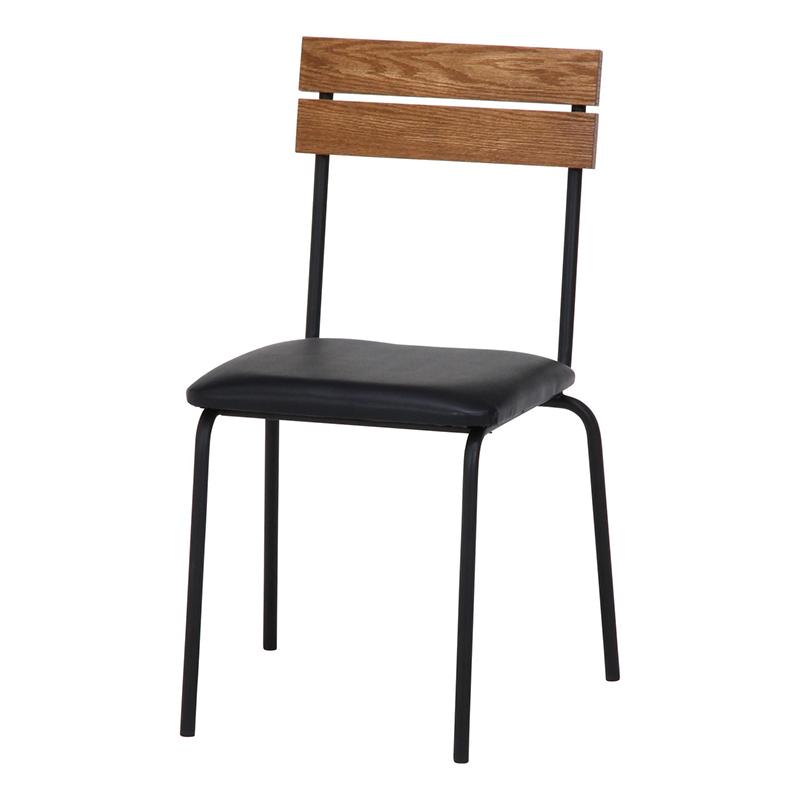 送料無料 ダイニングチェアー 2脚組 2脚セット スチール 1人掛け イス 椅子 いす チェアー チェア 食卓椅子 レアル チェアー 西海岸 ブルックリン 男前インテリア 高級感 おしゃれ デザイン ブラウン ブラック