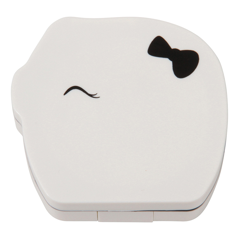 送料無料 12個入り コンタクトケース 子豚 WH レンズケース コンパクト 携帯 コンタクトレンズケース トラベル おしゃれ かわいい