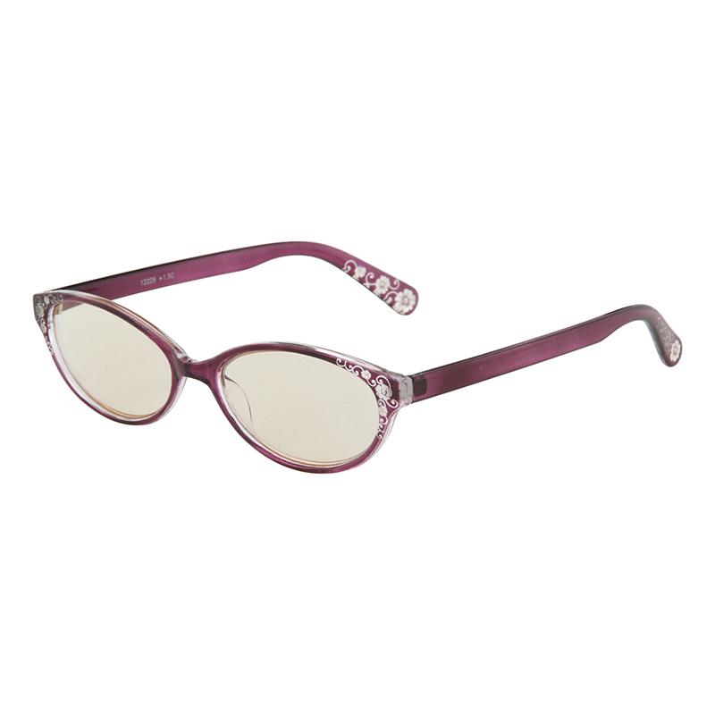 送料無料 10個入り PCリーディンググラス ファッション 1.5度 パープル PC眼鏡 スマホ老眼 パソコンメガネ 老眼鏡 シニアグラス おしゃれ かわいい