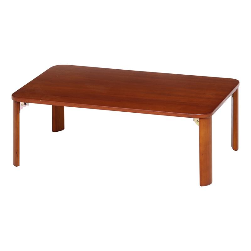 送料無料 折脚ローテーブル 90×60cm リビングテーブル 折り畳み 折りたたみ センターテーブル カフェテーブル 机 作業台 ワークテーブル 卓座 木製 コンパクト 省スペース 北欧 モダン シンプル おしゃれ かわいい ブラウン