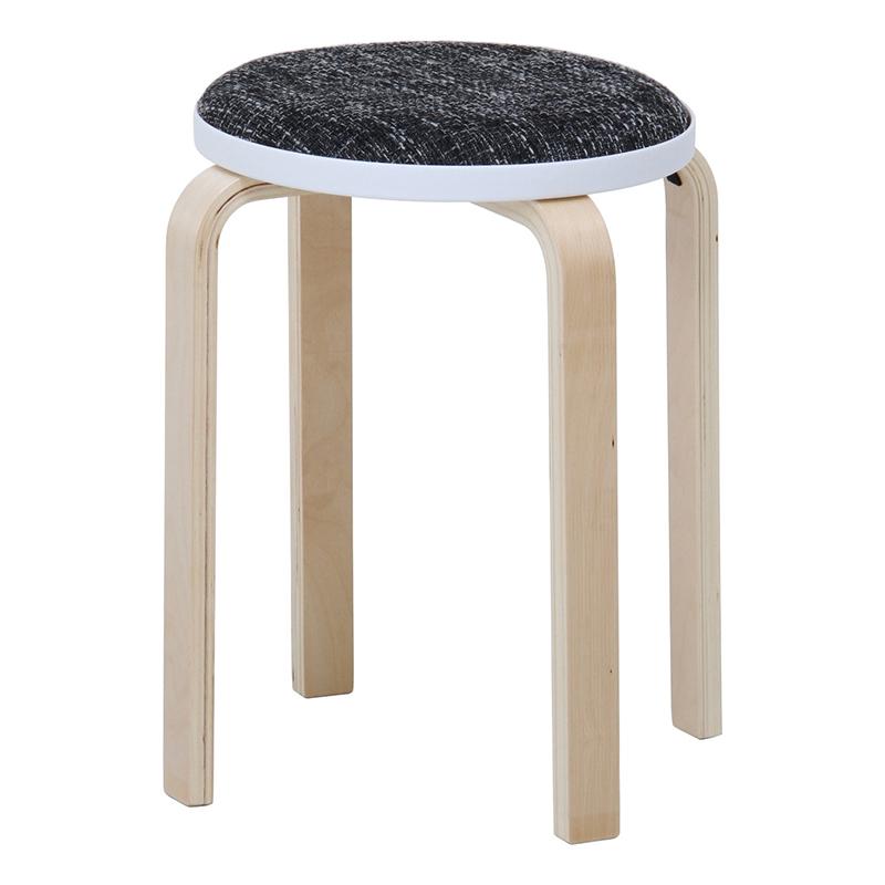送料無料 6脚セット ファブリック曲木スタッキングスツール イス 椅子 いす チェアー チェア 腰掛け 木製 会議室 リビング キッチン オフィス シンプル モダン コンパクト おしゃれ かわいい 北欧 グレー