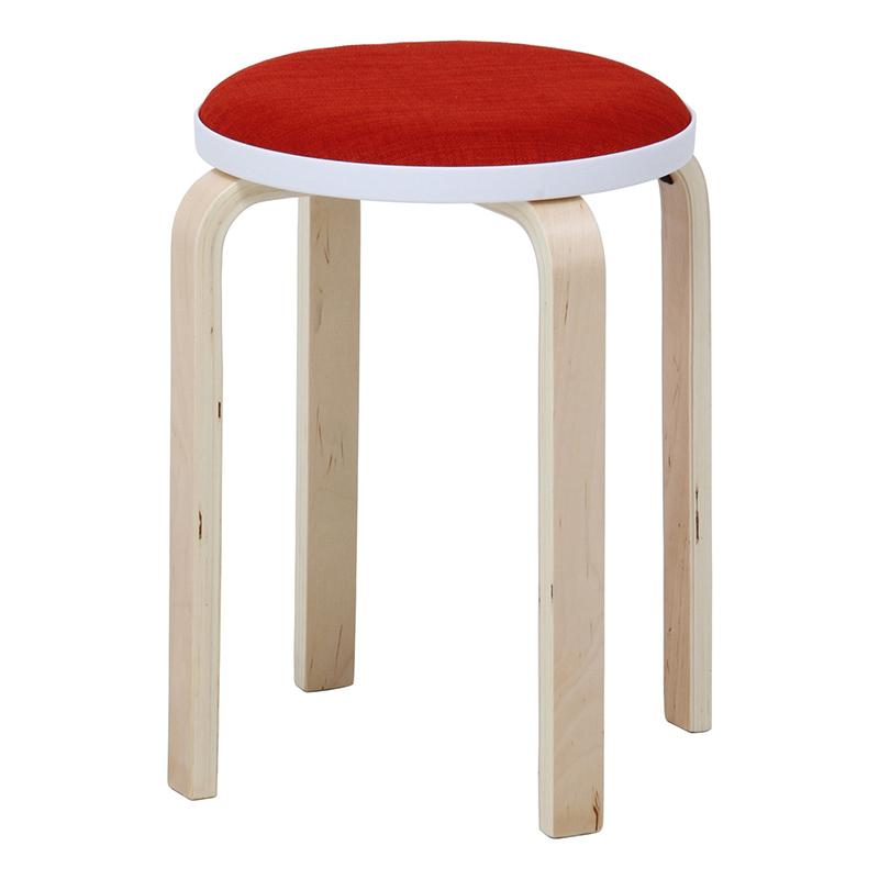 送料無料 6脚セット ファブリック曲木スタッキングスツール イス 椅子 いす チェアー チェア 腰掛け 木製 会議室 リビング キッチン オフィス シンプル モダン コンパクト おしゃれ かわいい 北欧 オレンジ