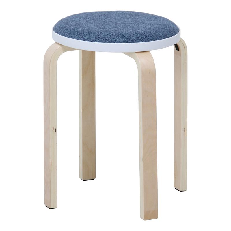 送料無料 6脚セット ファブリック曲木スタッキングスツール イス 椅子 いす チェアー チェア 腰掛け 木製 会議室 リビング キッチン オフィス シンプル モダン コンパクト おしゃれ かわいい 北欧 ブルー