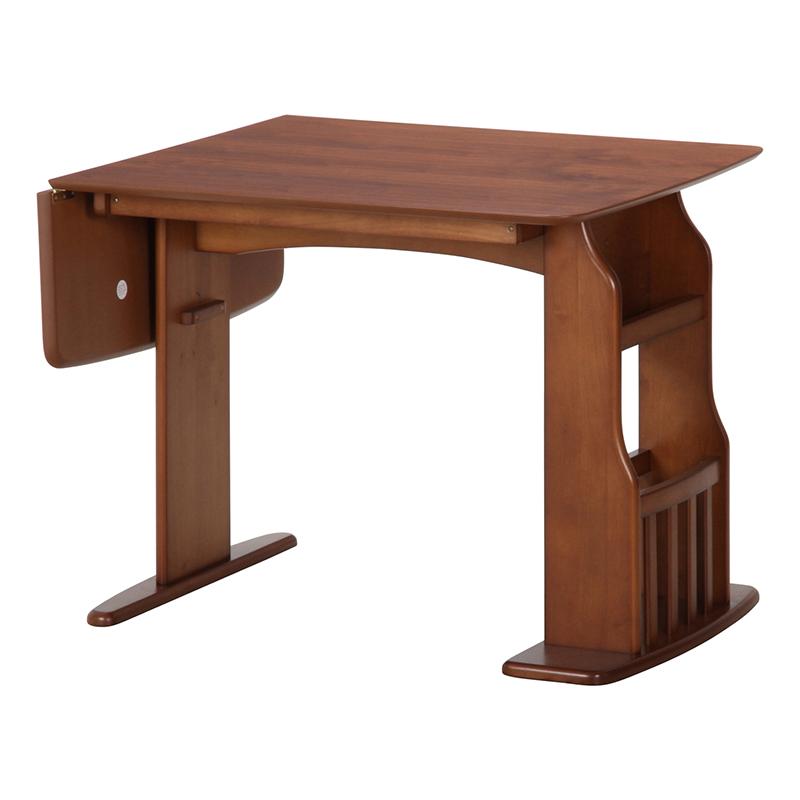 送料無料 ダイニングテーブル 単品 幅120~90cm 4人掛け 4人用 折りたたみ ウィング テーブル 木製 伸長式 食卓テーブル エクステンションテーブル 省スペース 北欧 シンプル モダン 高級感 おしゃれ デザイン ミディアムブラウン
