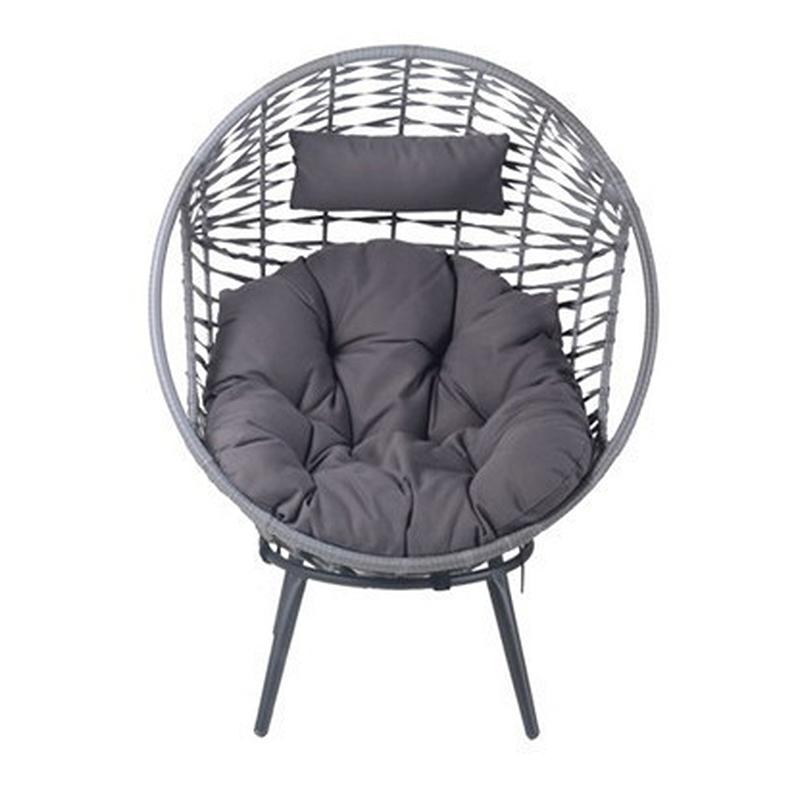 送料無料 ラタンラウンドチェアー リラックスチェアー いす 椅子 イス ガーデン リゾート 北欧 カフェ おしゃれ