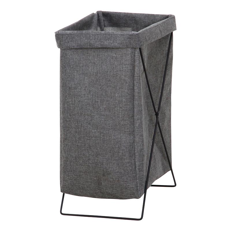 送料無料 6個セット マルチ収納ボックス 縦型 ランドリーボックス 折りたたみ ランドリーバスケット 大容量 おもちゃ収納 収納ボックス 洗濯かご 脱衣かご スリム 洗濯物入れ レトロ モダン シンプル 北欧 おしゃれ かわいい グレー