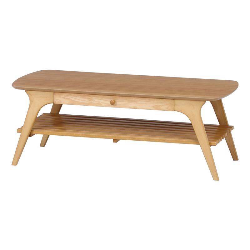 送料無料 引出付センターテーブル アルブ 棚付き 引き出し付き ローテーブル 木製 リビングテーブル カフェテーブル 作業台 シンプル モダン おしゃれ 西海岸 男前インテリア 北欧 ナチュラル