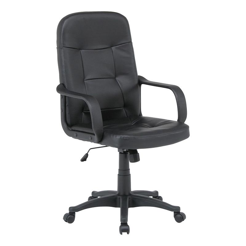 送料無料 レザーチェア パソコンチェアー ロッキング機能 いす 椅子 オフィスチェアー ワークチェア 事務椅子 デスクチェア ワークチェア OAチェア シンプル モダン おしゃれ ブラック