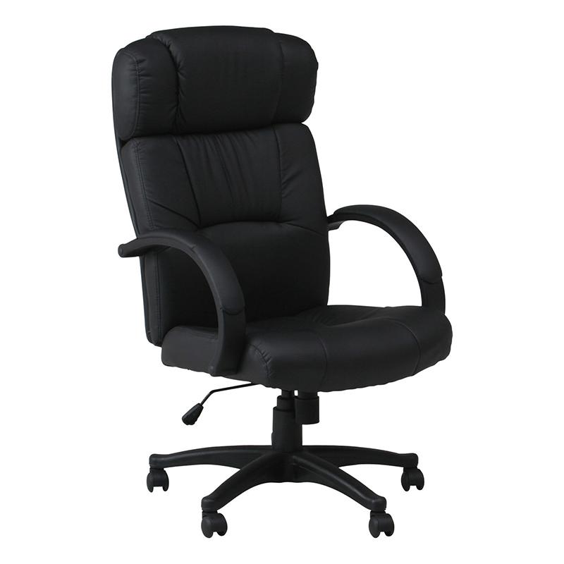 送料無料 プレジデントチェアー 合皮 パソコンチェアー ロッキング機能 いす 椅子 オフィスチェアー ワークチェア 事務椅子 デスクチェア ワークチェア OAチェア シンプル モダン おしゃれ ブラック