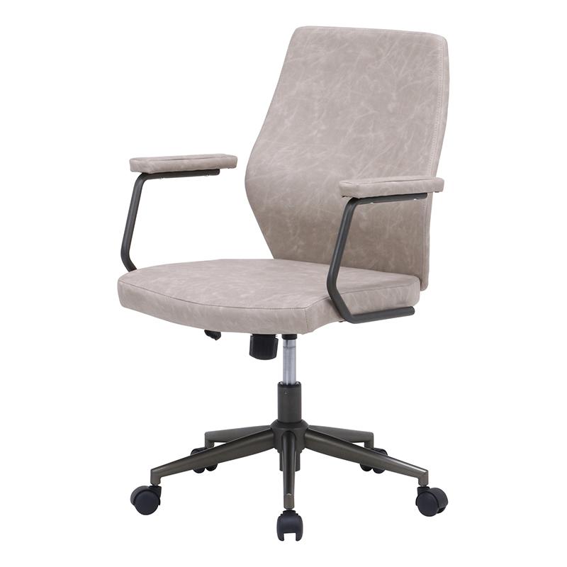 送料無料 レザーチェア パソコンチェアー ロッキング機能 いす 椅子 オフィスチェアー ワークチェア 事務椅子 デスクチェア ワークチェア OAチェア シンプル モダン おしゃれ グレージュ